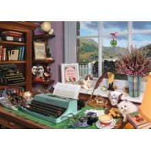 RAVENSBURGER Puzzle Spisovatelův stůl 1000 dílků