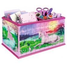 RAVENSBURGER 3D puzzle úložný box: Jednorožec 216 dílků
