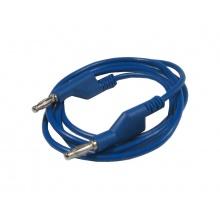 Propojovací kabel 1mm2/ 2m s banánky modrý