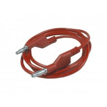 Propojovací kabel 1mm2/ 2m s banánky červený