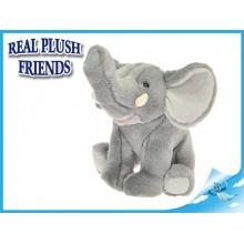 Plyšový slon sedící 23cm