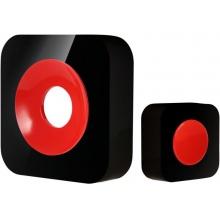OPTEX 990225 Bezdrátový designový barevný zvonek černá/červená s dlouhým dosahem