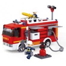 Stavebnice SLUBAN Požární vůz s čerpadlem