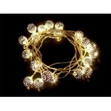 Vánoční osvětlení - kov.ball 3m IP20 teplá bílá,20LED