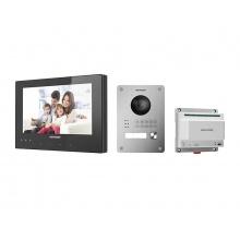 DS-KIS701 - Kit videotelefonu, 2-drát, bytový monitor + dveřní stanice + switch
