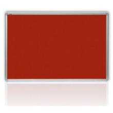 Filcová tabule v hliníkovém rámu,červená 100x150