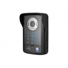 DRC-40DK, 1-tlačítková kamerová jednotka s kódovací klávesnicí, 2 vstupy, RFID čtečka Mifare, Commax