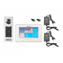 DS-KIS800S, bezdrátová WiFi sada videotelefonu a dveřní stanice se čtečkou čipů, Hikvision