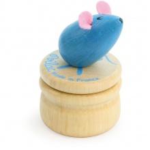 Vilac Dřevěný box na zoubky Myška modrá