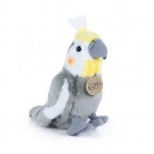 plyšový papoušek Korela chocholatá, 20cm (od 0 let)