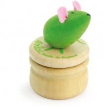 Vilac Dřevěný box na zoubky Myška zelená