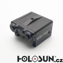Pistolový mini laser LS111R - červený