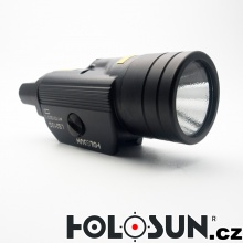 Pistolový laser se svítilnou LS210R - červený