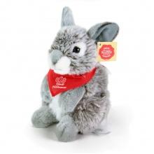 plyšový zajíc šedý s velikonočním šátkem, 20 cm (od 3 let)