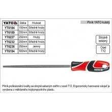 Pilník  YATO kulatý délka 300mm  středně hrubý