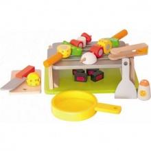 Dřevěné hračky Woody - Gril se špízy/vařič