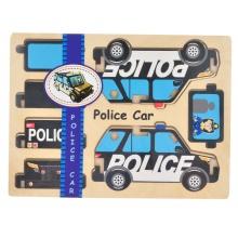 Dřevěné puzzle skládací Policie