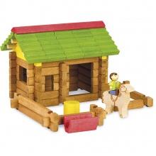 Jeujura Dřevěná stavebnice 64 dílků stáj
