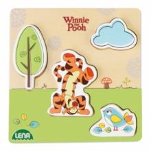 Lena Dřevěné puzzle medvíhek Pů s tygrem