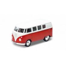 Welly - Volkswagen T1 BUS 1:34 červený
