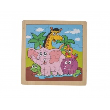 Dřevěné puzzle zvířatka v safari 25 dílků