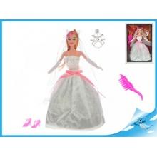 Panenka nevěsta kloubová s doplňky 29cm