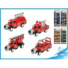 Nákladní auta 4ks modely 1:55 hasiči