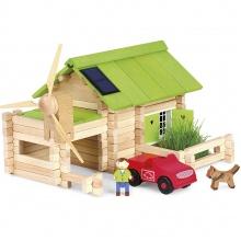 Jeujura Dřevěná stavebnice 145 dílků Ekologická farma