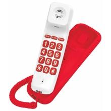 A10-CERVENA-BILA Concorde - standardní telefon, barva červená+bílá