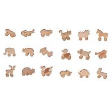 Dřevěná hračka na kolečkách, různé druhy   medvěd