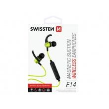 Sluchátka do uší SWISSTEN ACTIVE bluetooth limetkové