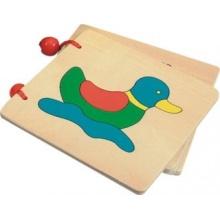 BINO Dřevěná obrázková knížka - Zvířátka