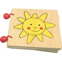 BINO Dřevěná obrázková knížka - Věci