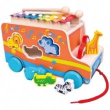 MERTENS Vkládací auto s xylofonem a zvířátky