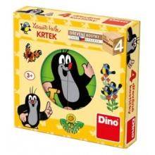 DINO Obrázkové kostičky Krteček, 4 kostky