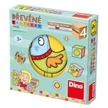 DINO Obrázkové kostičky pro nejmenší dětičky, 4 kostky