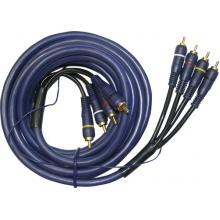 Kabel 4xCINCH - 4xCINCH   5.0m středový vodič