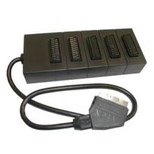 Redukce Scart konektor / 5 x Scart zdířka 21PIN