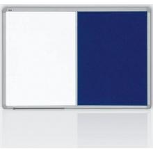 kombinovaná tabule 120x90 filc modrý/magnet., rám ALU23