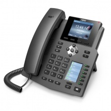 X4G Fanvil - IP telefon, 4x SIP linky, 2.8'' Color LCD 320*240, 6x BLF key, 2x RJ45 Gb, POE