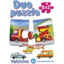 DOHÁNY Duo puzzle Dopravní prostředky 8x2 dílky
