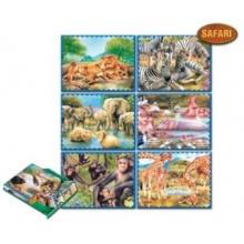 DOHÁNY Obrázkové kostky Zvířata Afriky, 20 kostek