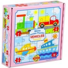 DOHÁNY Puzzle Dopravní prostředky 4v1 (4,6,9,12 dílků)