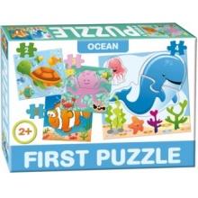 DOHÁNY Baby puzzle Život v moři 4v1 (2-4 dílky)