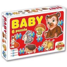 DOHÁNY Baby puzzle Les 6v1 (2-4 dílky)