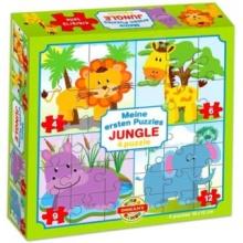 DOHÁNY Puzzle Život v džungli 4v1 (4,6,9,12 dílků)