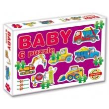 DOHÁNY Baby puzzle Stavba 6v1 (2-4 dílky)