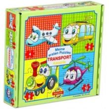 DOHÁNY Puzzle Veselá doprava 4v1 (4,6,9,12 dílků)