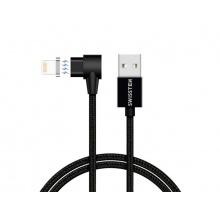 Kabel SWISSTEN magnetický textilní USB/Lightning 1,2M černý