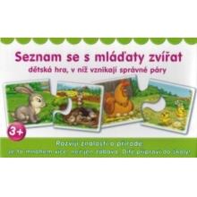 DOHÁNY Puzzle dvojice Seznam se s mláďaty zvířat